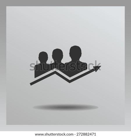 diagram icon, vector illustration - stock vector