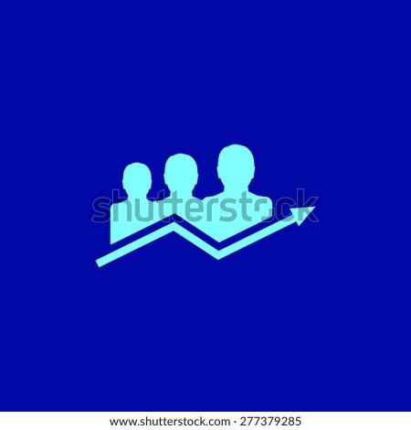 Diagram icon, vector illustration. Flat design style.. - stock vector