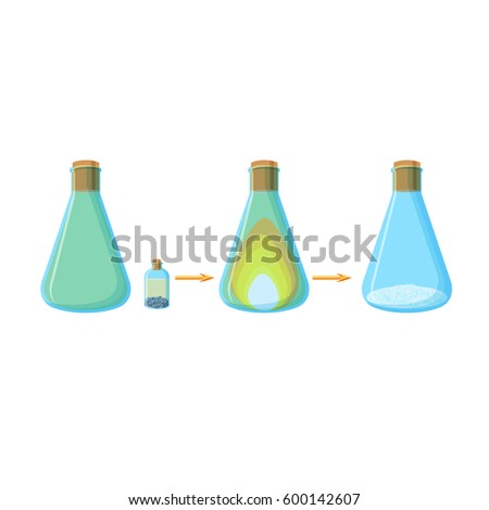 Diagram chemical experiment which shows reaction stock vector diagram of chemical experiment which shows the reaction two active compounds with a formation of salt ccuart Gallery