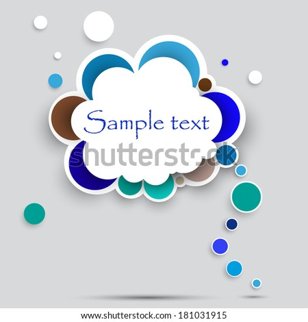 Diagram of circles, template information graphics. Vector  illustration