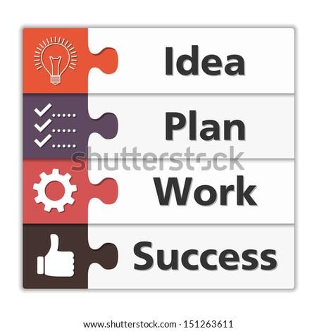 Diagram of success, vector eps10 illustration - stock vector