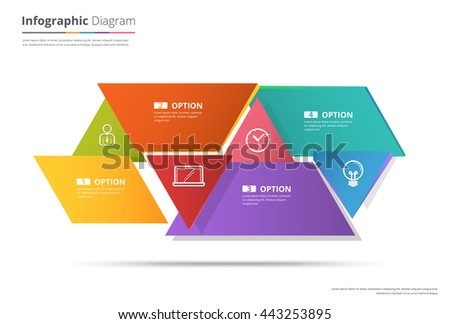 Diagram Template, Organization chart template. flow template, blank diagram for replace text, white color, Circle diagram, vector stock design. - stock vector