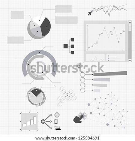 Diagrams and charts - stock vector