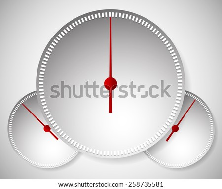 Dial, Generic Meters, Gauge Templates.  - stock vector