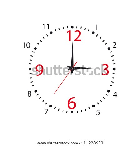 Dial of hours on a white background.Vector - stock vector