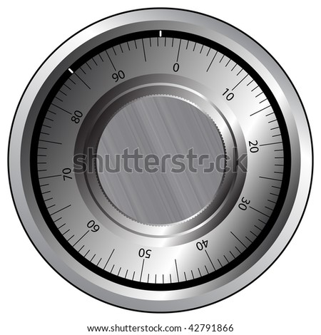 dial safe lock - stock vector