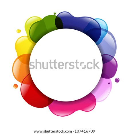 Dialog Balloon And Color, Isolated On White Background, Vector Illustration - stock vector