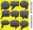 dialog bubbles - stock vector