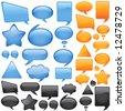 dialog bubbles vector - stock