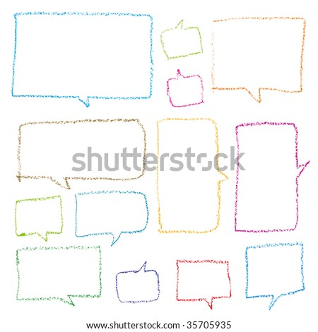 dialog bubbles vector - stock vector