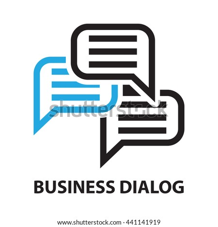 dialog business concept  icon and symbol - stock vector