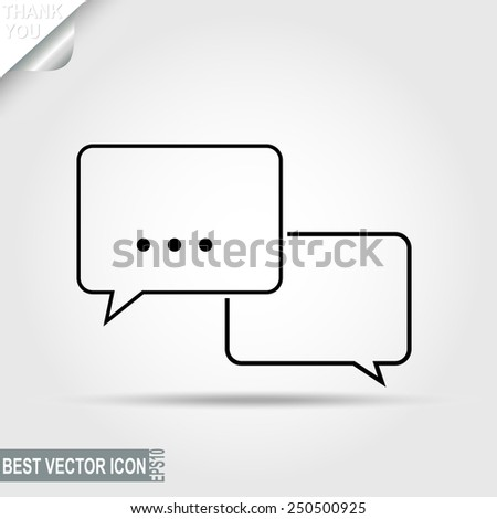Dialog, Message Pictograph, Chat icon, Speech bubbles, Discussion - vector illustration, you can change form and color - stock vector