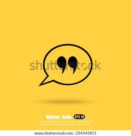 dialog vector icon - stock vector