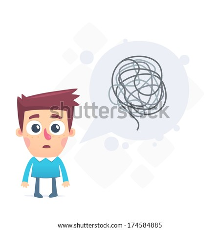 dialogue about difficult problems solved - stock vector