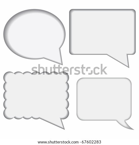 dialogue boxes on white background - stock vector