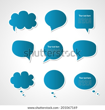 Dialogue cloud. Vector illustration
