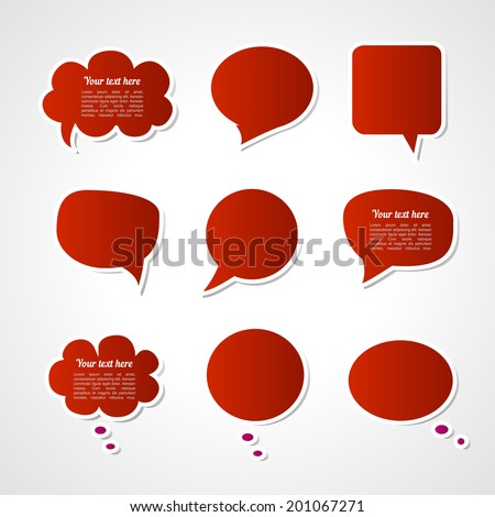 Dialogue cloud. Vector illustration - stock vector