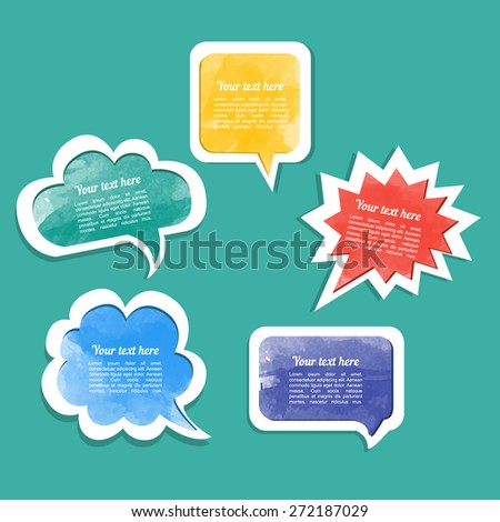 Dialogue cloud. Vector illustration - stock vector