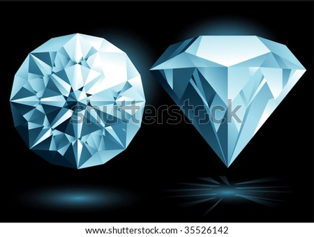 diamond - stock vector