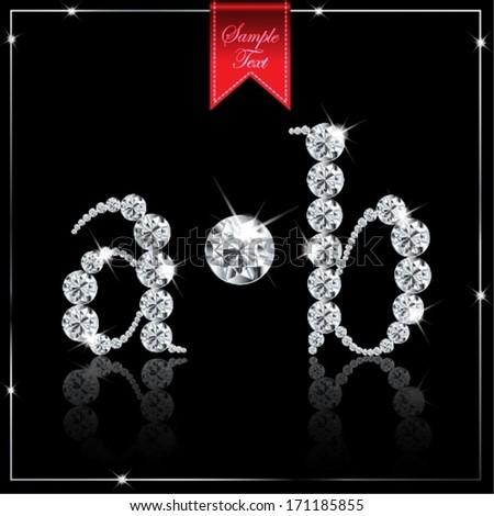 diamond abc- a,b - stock vector