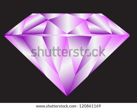 Diamond anatomy pattern in standard cut for modern round brilliant with 58 facets illustrated by blue shown premium design of 27 shapes in 10 EPS format. Purple. - stock vector
