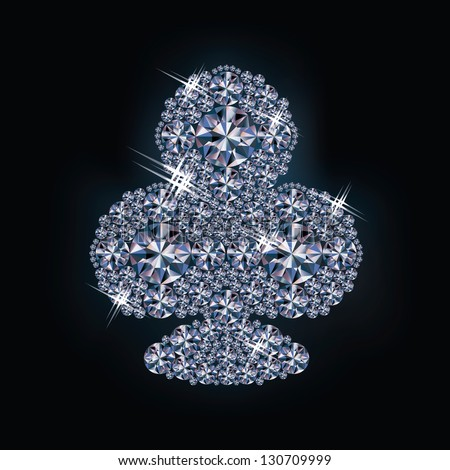 Diamond clubs poker card , vector illustration - stock vector
