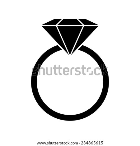 diamond ring vector icon - photo #43