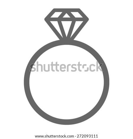 Diamond Engagement Ring Wedding Ring Line Stock Vector 2018