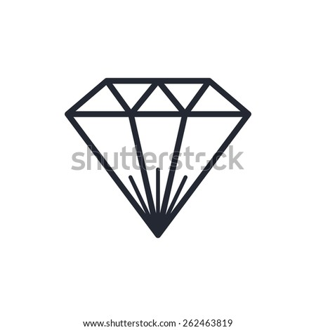 diamond gemstone - stock vector