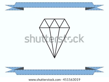 diamond icon, vector illustration