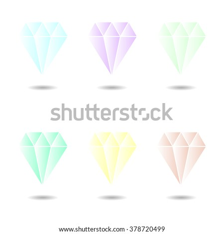 Diamond icons set. Vector illustration for your design - stock vector