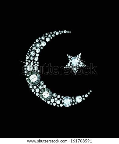 Diamond Islam Symbol - stock vector
