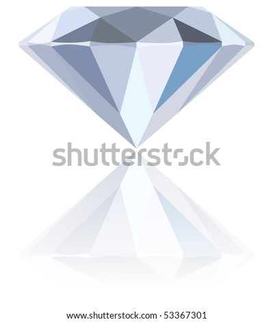 diamond jewel stone vector icon