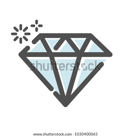 Diamond jewel symbol icon