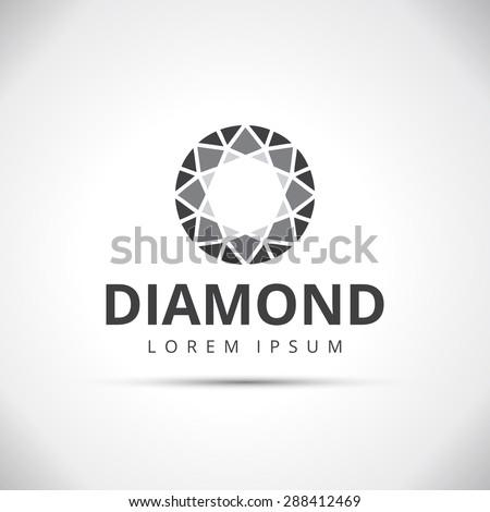 Diamond Logotype Concept - stock vector