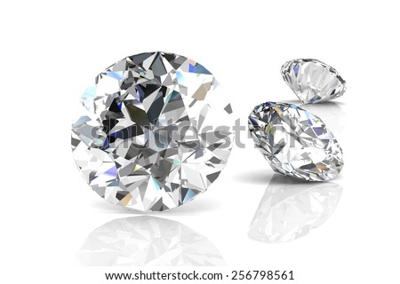 Diamond on white background .Vector illustration. - stock vector