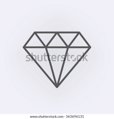 Diamond outline icon . Vector illustration - stock vector