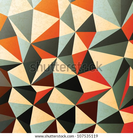 Diamond shaped pattern. Abstract, vector, EPS10 - stock vector