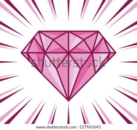 diamond shine - stock vector