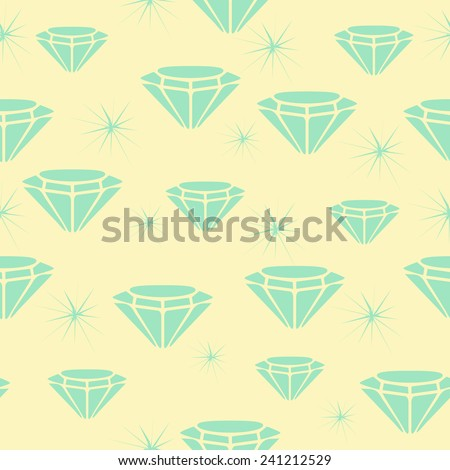 Diamond shine seamless pattern/ background (also saved in swatch panel)