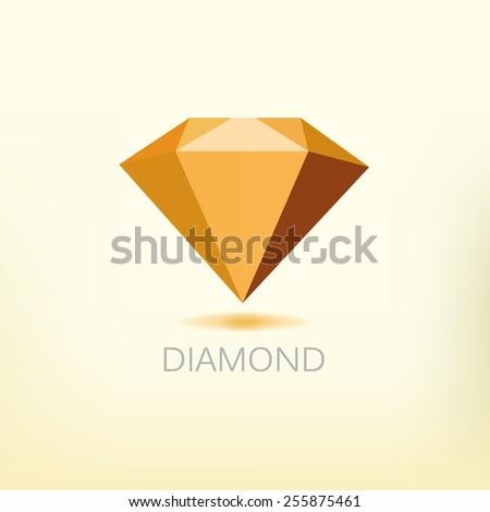Diamond symbol - stock vector