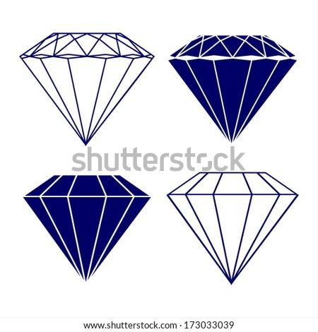 diamond symbols vector illustration  - stock vector