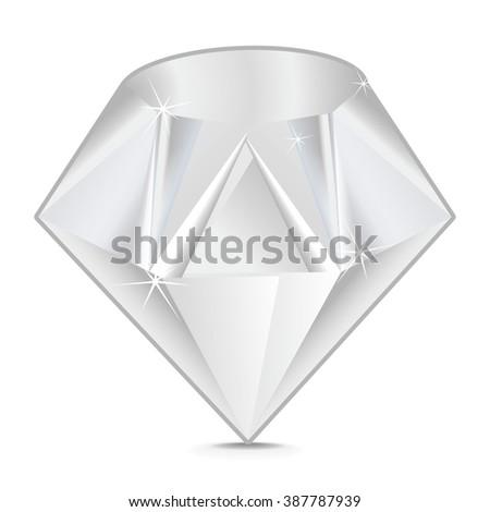 Diamond vector - stock vector