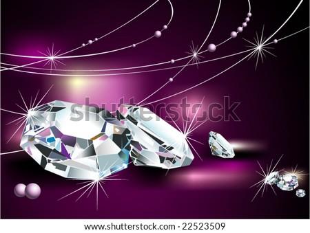 diamonds - stock vector