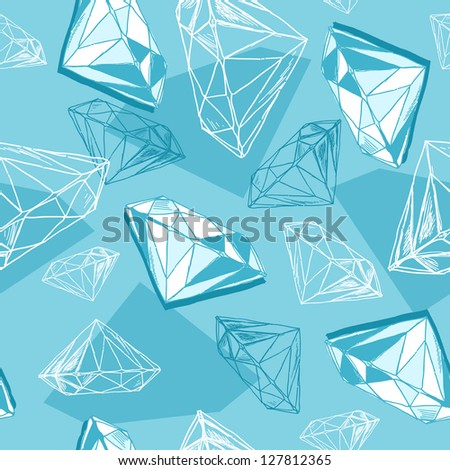 Diamonds background - stock vector