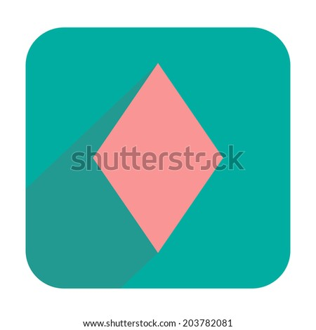 Diamonds icon - stock vector