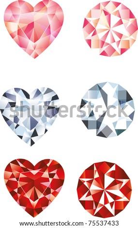 diamonds isolated - stock vector