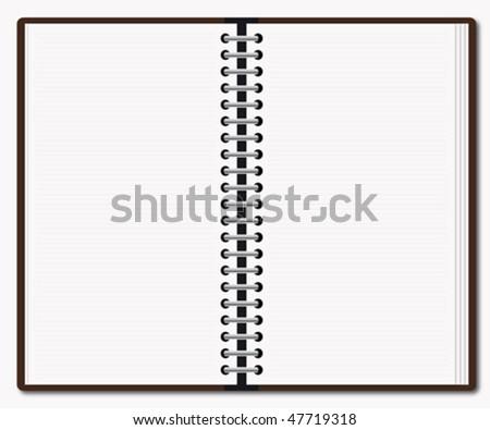 Diary - stock vector