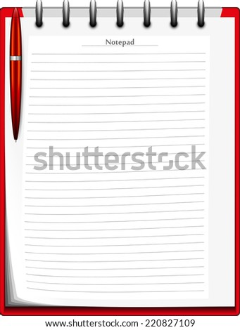 diary abstract vector illustration background eps 10 / diary - stock vector