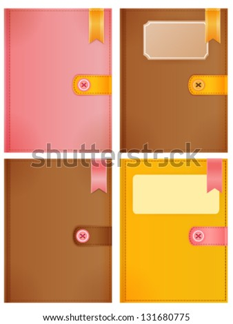 Diary Collection - stock vector
